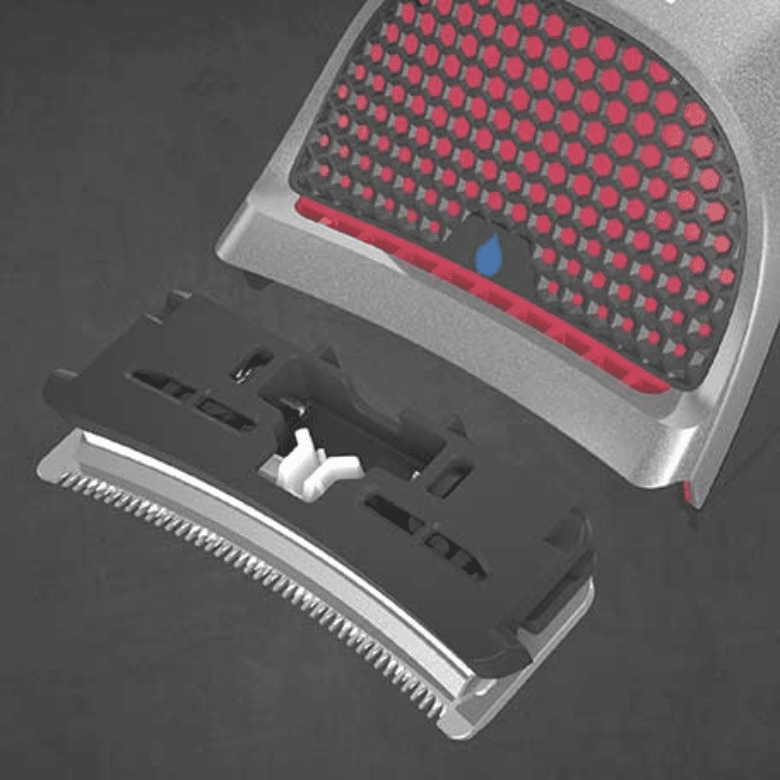 Blade removed from shaver
