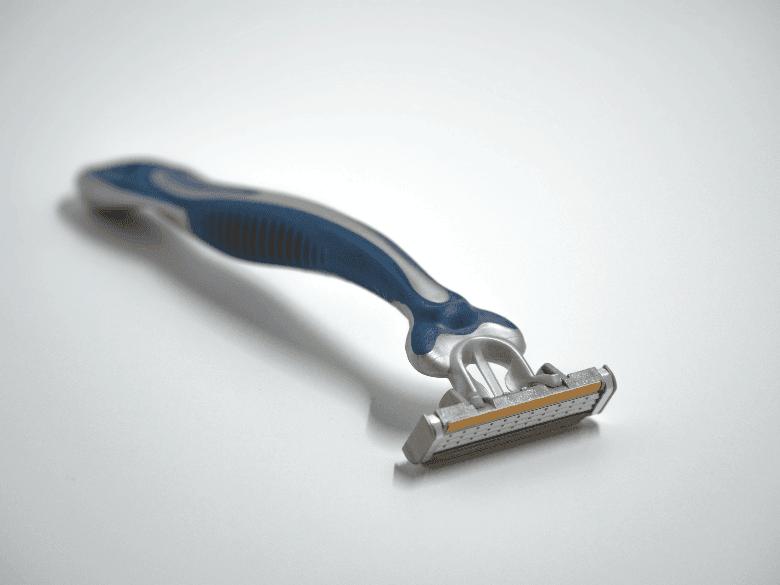 Cartridge razor on white surface