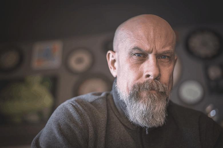Bearded bald man