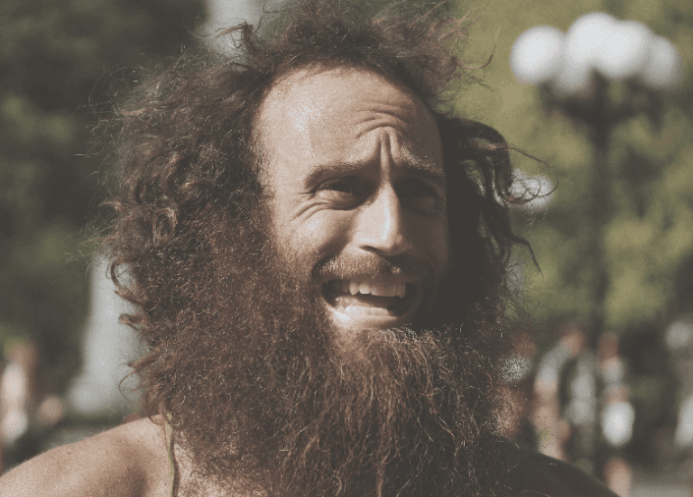 Man with long beard and hair