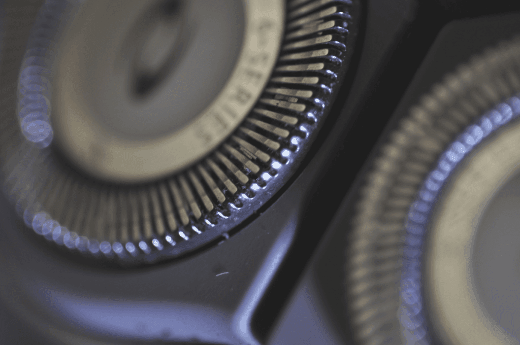 Close up of a rotary shaver