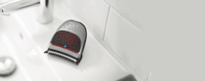 Shaver on bathroom sink