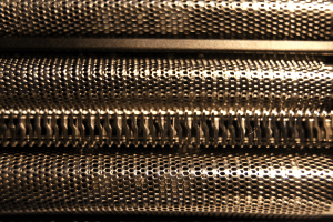 Extreme close up of foil shaver foil