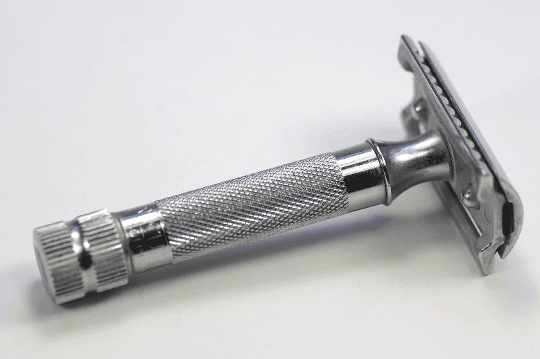 Double Edge Safety razor on white surface