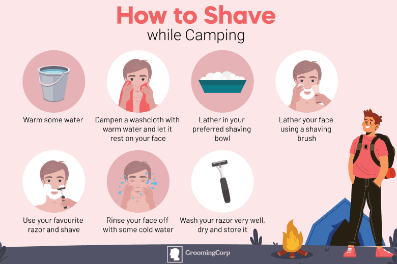 shaving and grooming while camping